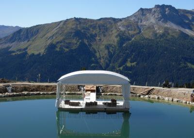 Klosters-Madrisa, ortsfeste Schwimmbühne