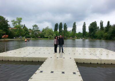 EP 401 Schwimmbühne (12m x 8m) leer